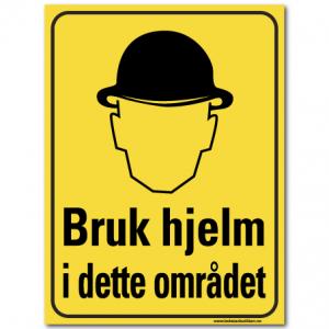 hms advarsel bruk hjelm