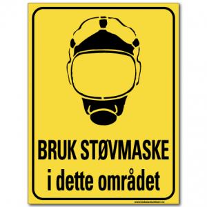 hms advarsel bruk støvmaske