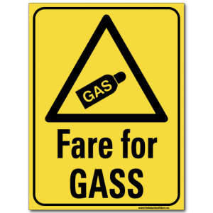 hms advarsel fare for gass