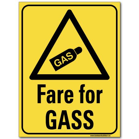 hms advarsel fare for gass