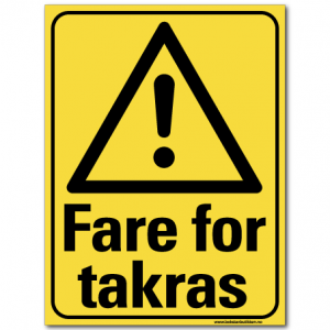 hms advarsel fare for takras