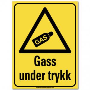 hms skilt Gass under trykk