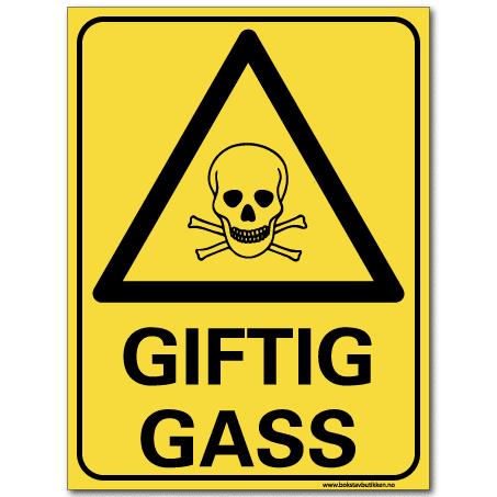 hms skilt Giftig gass