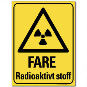 hms skilt radioaktivt stoff