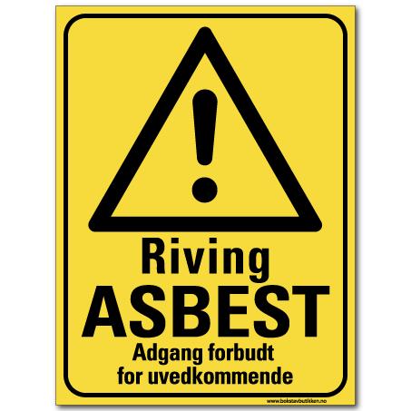 hms skilt riving asbest