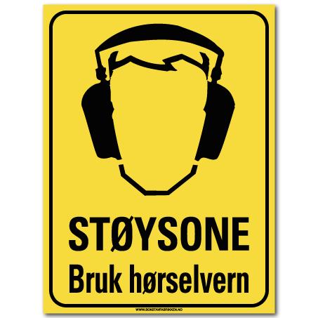 hms skilt Støysone