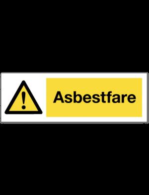 hms skilt asbestfare