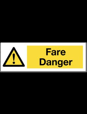 hms skilt fare/danger