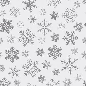 Illustrasjon av snøkrystaller på vindusfolie.