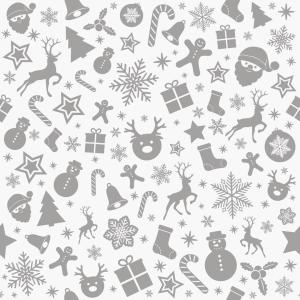 Vindusfolie demonstrasjon med julemotiv. Snømenn, pakker, reinsdyr og stjerner.