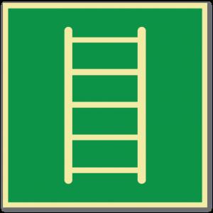 sikkerhetsskilt evakueringsstige