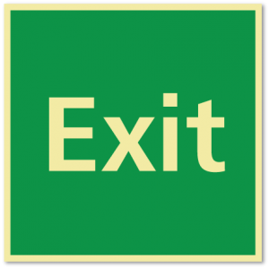 sikkerhetsskilt exit