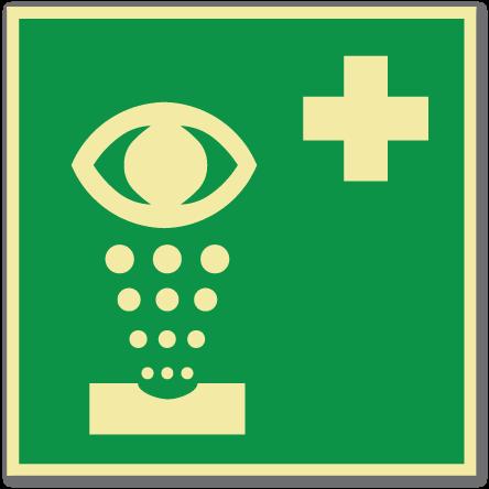 sikkerhetsskilt øyevask