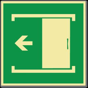 sikkerhetsskilt skyvedør venstre