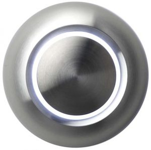 ringeknapp for tilkobling til kablede ringeanlegg.