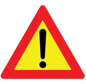 Arbeidsvarsling skilt som advarer mot annen fare