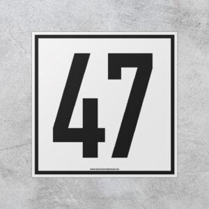 Standard husnummerskilt